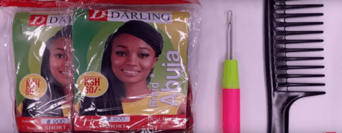 HOW TO:CURL SYNTHETIC DARLING ABUJA BRAIDS + CROTCHET
